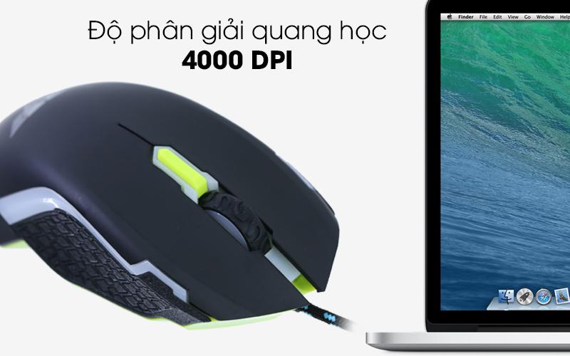 Chuột có dây Newmen N8000 -DPI cao đáp ứng mượt mà các ứng dụng nặng, game tốc độ cao