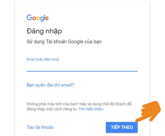 Đăng nhập tài khoản gmail trên máy tính