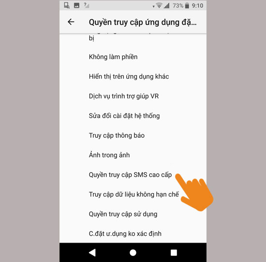 ​Quyền truy cập SMS cao cấp
