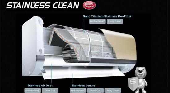 Diệt 99,99% vi khuẩn với công nghệ Stainless Clean