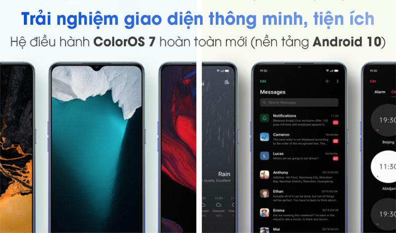 Oppo Reno3 được cài sẵn Android 10