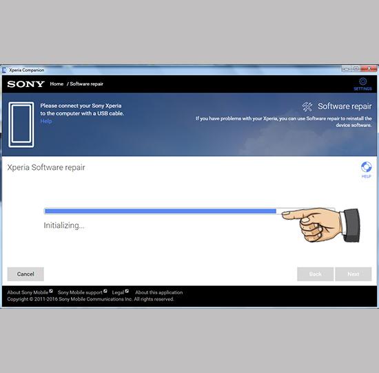 Chờ phần mềm tải gói tập tin