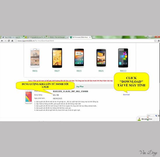 chọn rom dòng Oppo Joy Plus R1011