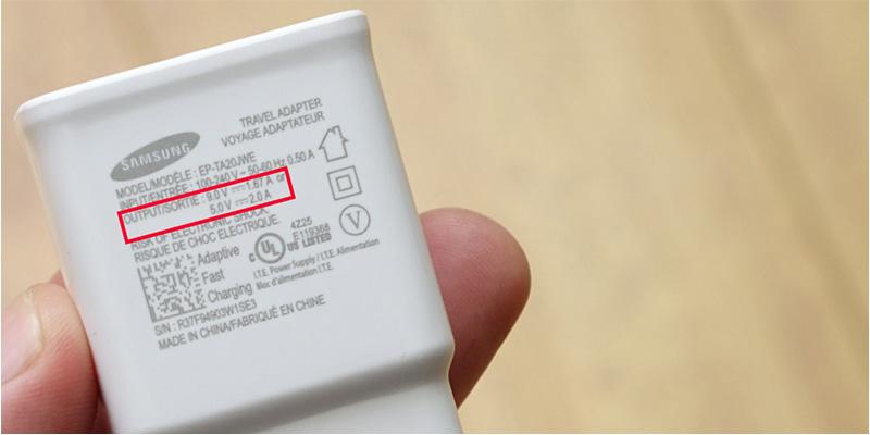 Các thông số trên adapter