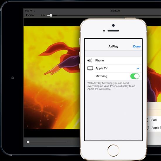 Ví dụ: sau khi quay một video từ iPhone nhưng vì màn hình quá nhỏ nên bạn  muốn xem trên iPad hoặc Macbook, chỉ cần sử dụng AirPlay là xong.