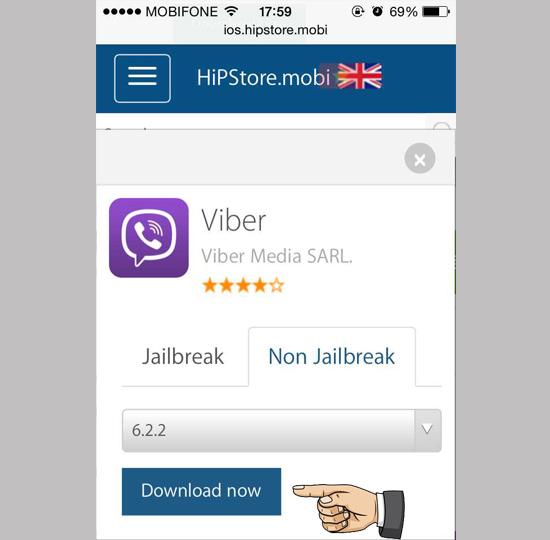 Tìm và tải về một ứng dụng không Jailbreak